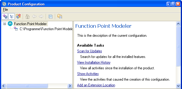 Function point Modeler Apdate Manager